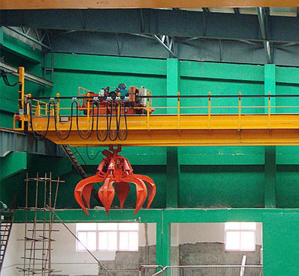 Waste to engery plant overhead crane